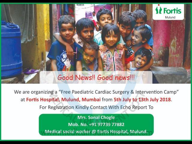 FREE Peadiatric Cardiac Surgery at Fortis Hospital Mulund in Mulund Mumbai - 1/1